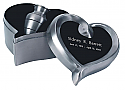 Brushed Pewter Cremation Keepsake Urn Set