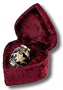 Black Toledo Brass Keepsake Cremation Urn