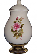 Pink Rose Ceramic Cremation Urn