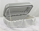 Silver-Gray Pet Casket