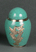 Three Doves Brass Keepsake Cremation Urn