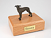 Greyhound, Brindle Standing Dog Figurine Cremation Urn