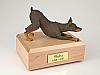 Doberman, Red Dog Figurine Cremation Urn