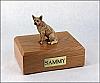 Australian Cattle Dog Red Sitting Dog Figurine Cremation Urn