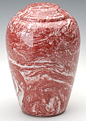 Red Rose Grecian Marble Cremation Urn