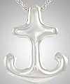 Sterling Silver Anchor Cremation Pendant Urn
