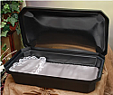 "At Peace Large 32"" Black/Silver Pet Casket"
