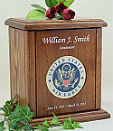 USAF Recessed Medallion Chestnut Cremation Urn