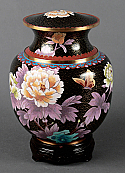 Palace Garden Cloisonne Adult Cremation Urn