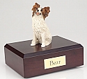 Papillon Dog Figurine Cremation Urn