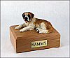 Saint Bernard Dog Figurine Cremation Urn