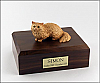 Angora, Brown Cat Figurine Cremation Urn