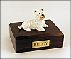 Westie Laying Dog Figurine Cremation Urn
