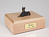 Doberman Black - ears up Dog Figurine Cremation Urn