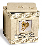 Dog Paw Print Cremation Urn Personalized