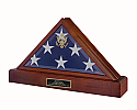 Vice-Presidential Flag Case and Cremation Urn Pedestal