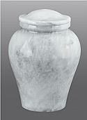 Arno White Marble Infant or Keepsake Cremation Urn