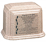 Footprints Cultured Granite Urn