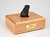 Shar Pei, Black Dog Figurine Cremation Urn