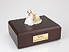 Shih Tzu, Gold-White Standing Dog Figurine Urn