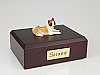 Akita White-Yelow Laying Dog Figurine Cremation Urn