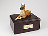 Great Dane, Fawn Laying Dog Figurine Urn