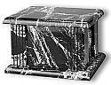 Rectangular Black Natural Marble Cremation Urn