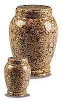 Small Traditional Earth Marble Cremation Urn