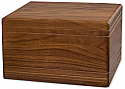 Walnut Boxwood Adult Cremation Urn