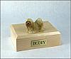 Lhasa Apso, Blonde Dog Figurine Cremation Urn