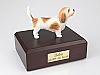 Basset Griffon Vendeen White / Yelllow Standing Dog Figurine Cremation Urn