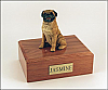 Pug, Sitting Dog Figurine Cremation Urn