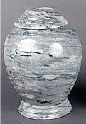 Gray Marble Adult Cremation Urn