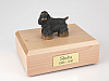 Cocker, Black/Brown Standing  Dog Figurine Cremation Urn