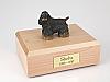 Cocker, Black/Brown Standing  Dog Figurine Cremation Urn