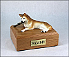 Husky, Red-White - blue eyes Dog Figurine Urn