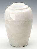 Pearl Onyx Grecian Cultured Marble Cremation Urn