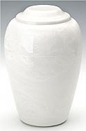 White Grecian Marble Cremation Urn