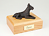 Boxer, Bronze - ears Up laying Dog Figurine Cremation Urn