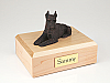 Schnauzer, Bronze - ears up Dog Figurine Cremation Urn
