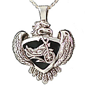 Motorcycle and Eagle Pendant Cremation Urn