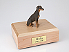 Doberman, Red - ears down  Dog Figurine Cremation Urn