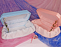 "Pink or Blue 24"" Medium Pet Caskets"