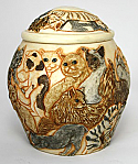 A Cats Galore pet Cremation Urn