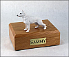 German Shepherd White  Dog Figurine Cremation Urn