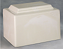 York White Single Adult Cremation Urn