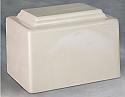 York White Single Adult Cremation Urn