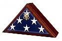 Eternity Urn and Flag Case with Heirloom Walnut Finish