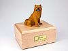 Chow Chow Yellow Dog Figurine Cremation Urn