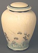 Ecru Porcelain Cremation Urn